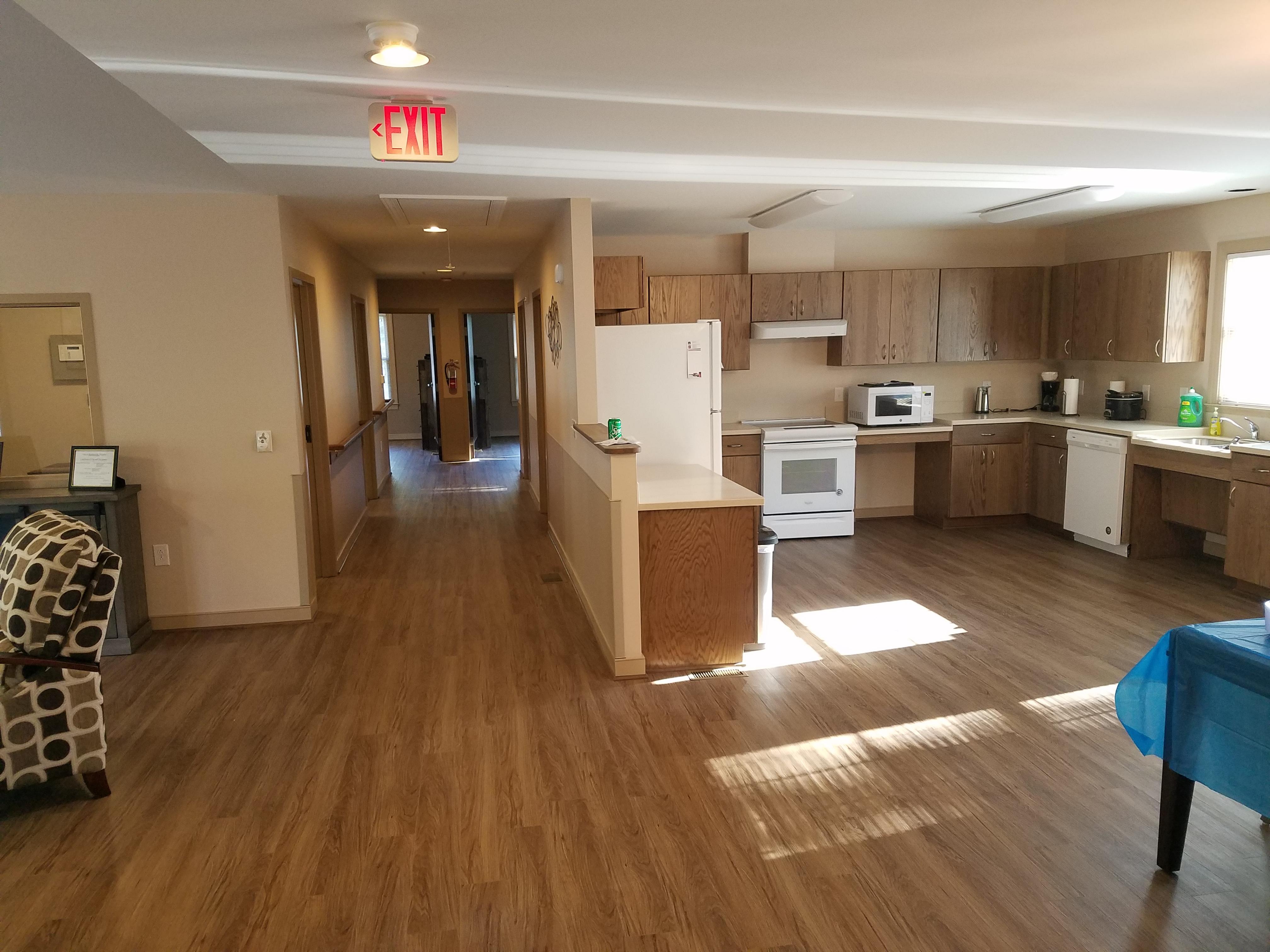 Livingroom and kitchen area
